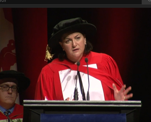 Naomi Azrieli receives honorary degree of Doctor of Laws at McGill University's Fall Convocation