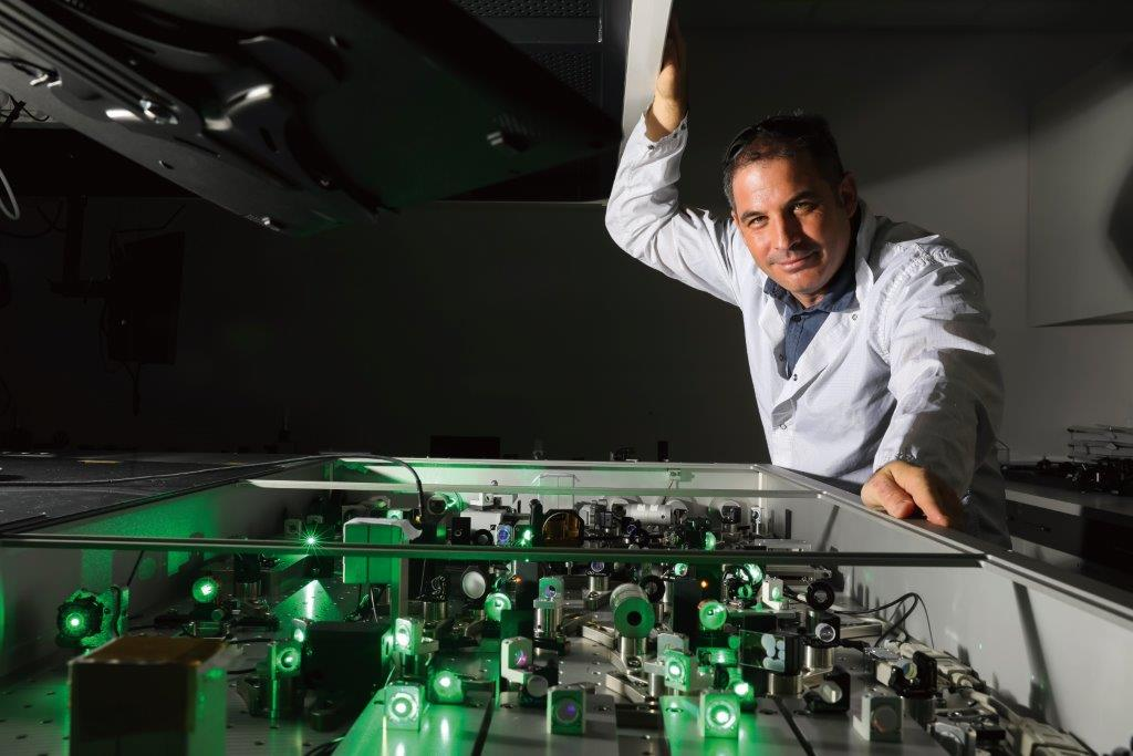 Haim Suchowski, an Azrieli Graduate Studies Fellow, researches the physics of ultrafast nonlinear optical phenomena.
