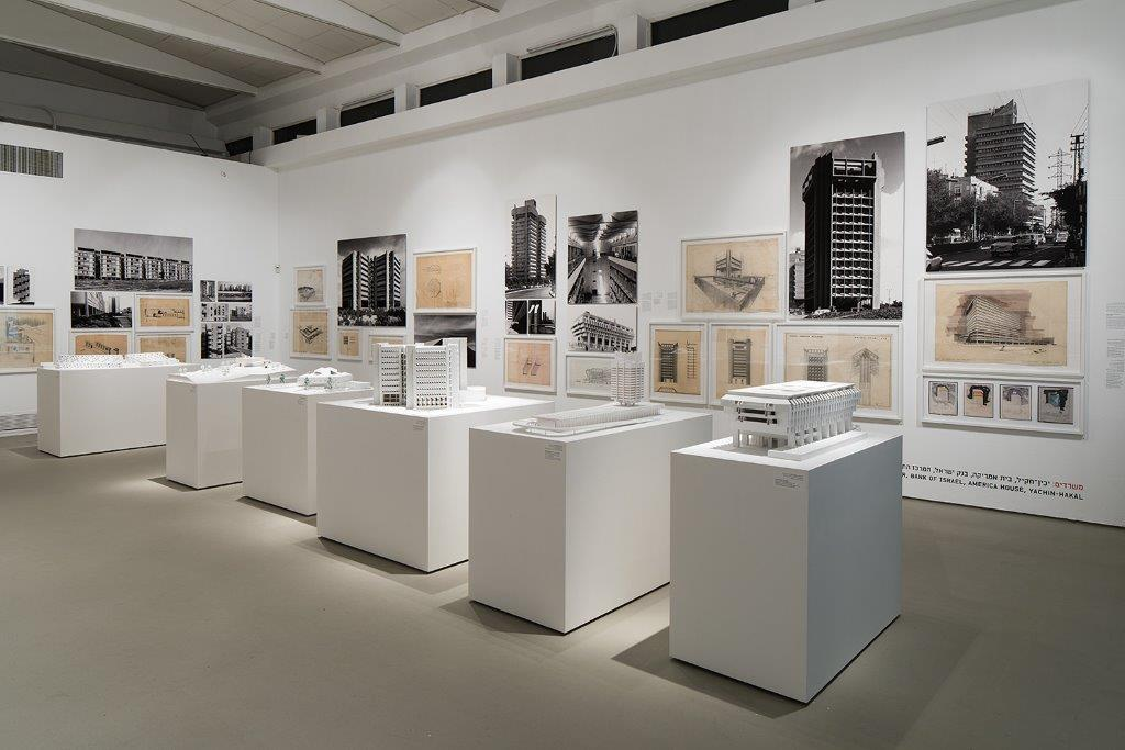 The Arieh Sharon exhibit demonstrated works of architecture.