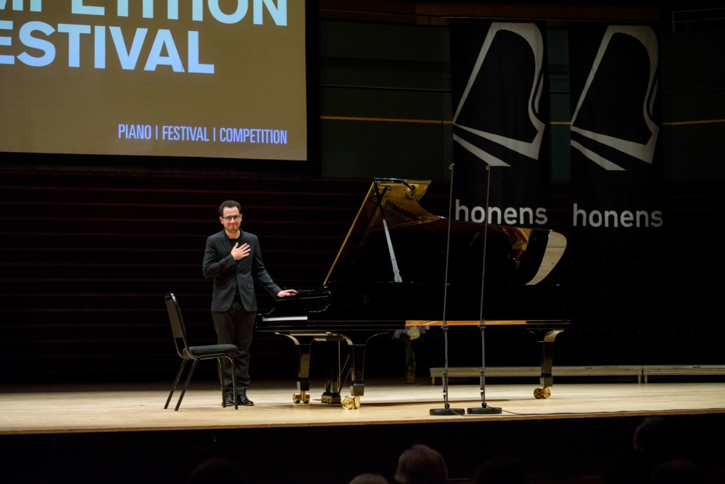 Honens in an international piano competition, which helps to launch the careers of emerging artists.