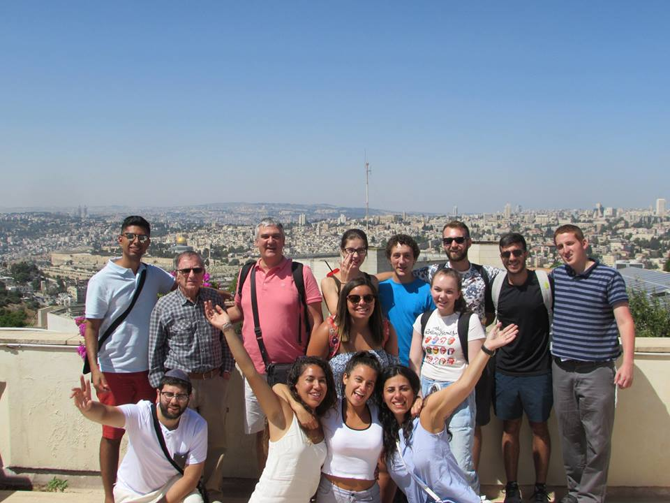 Concordia students in the Israel Studies program on the summer in Israel program.