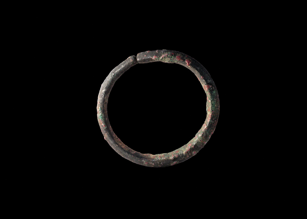 A bronze bracelet dating from the Iron Age