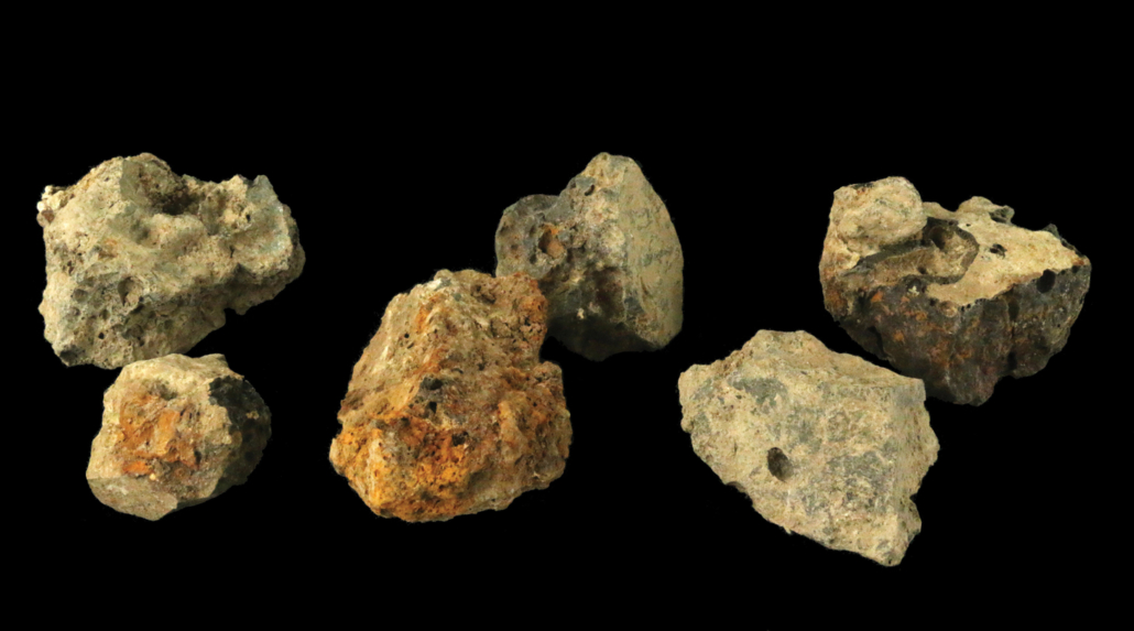 Iron slag from the archeological site Tell es-Safi