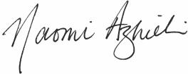 Naomi Azrieli Signature
